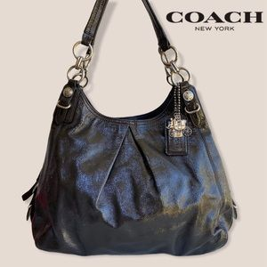 Coach Madison Maggie Grey Patent Leather Tote
